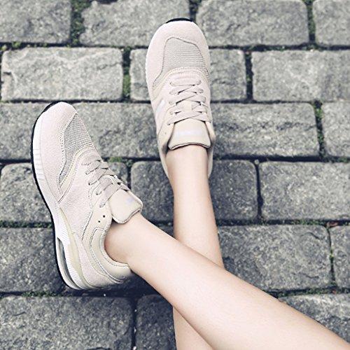 Pink 35 Plates Des Beige Sport Printemps De Femme Femmes Hwf Décontractées Course Taille Respirant Chaussures Maille Couleur 0q6wXHa