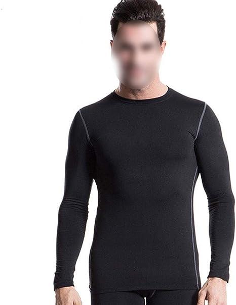Somnrchun Camisa de compresión Negra de protección Ultravioleta Camisas de Manga Larga de compresión Deportiva de Manga Larga for Hombres (Color : Negro, Size : XXL): Amazon.es: Deportes y aire libre