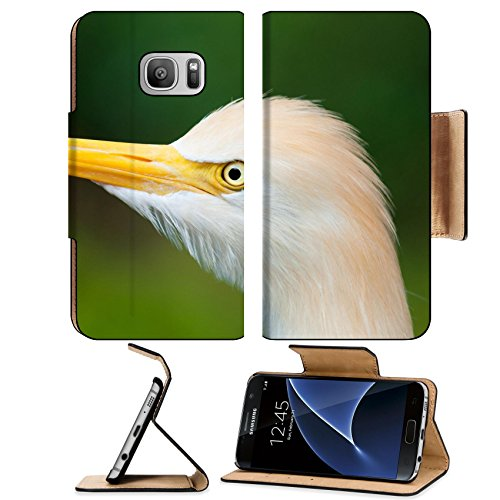 Liili Premium Samsung Galaxy S7 Flip Pu Leather Wallet Case ID: 25186430 Cattle egret Bubulcus ibis at the Jurong Bird Park in - Glass Singapore Privacy
