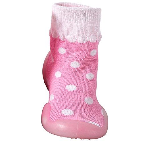Pantoufle 15cm Bébé Coton Antidérapant Chaussures Cartoon Mignonne Toddler Chaussettes 12 Rose Bottes Bozevon Sock Simple Enfants 6Fw4H4xqP