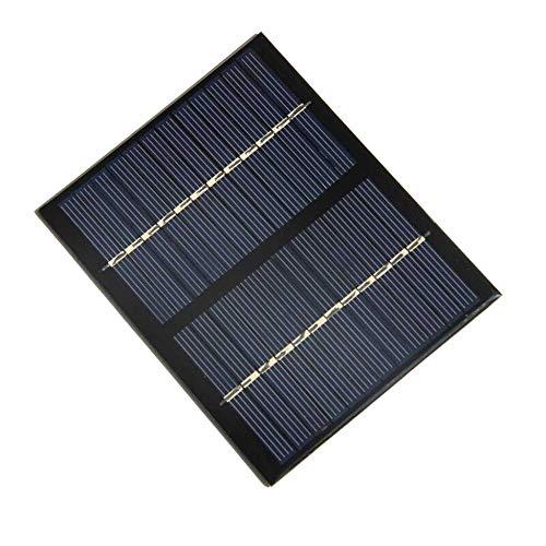 Solarpanel-Ladekarte -12V 1,5 W Universal Solarpanel Polykristallines Silizium DIY DIY Batterielademodul Kleine Solarzelle - Schwarz