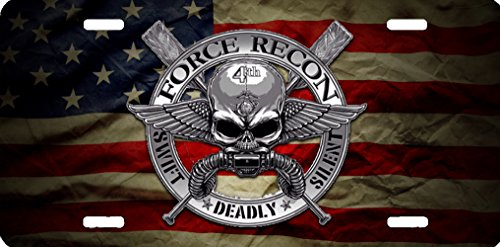 usmc-marines-flag-force-recon-aluminum-license-plate-command-rust-proof-quality-product
