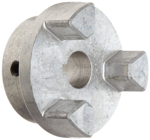 Lovejoy 17851 Size AL095 Jaw Coupling Hub, Aluminum, Inch, 0.688'' Bore, 2.12'' OD, 1'' Length Through Bore, 0.188'' x 0.094'' Keyway
