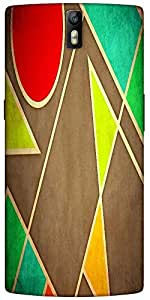 Snoogg Pastel Geometric Shapes 2677 Designer Protective Back Case Cover For O...