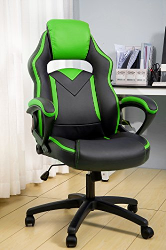 Merax Office Chair Computer Gaming Desk Chair Racing Style Ergonomic Design Office Chair (Green) by Merax