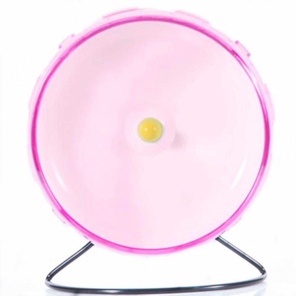 8.2 Inches Hamster Syrian Hamster Gerbil Rat Hedgehog Running Wheel Mute Exercise Wheel (Pink)