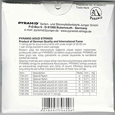 Professional Oud Strings Turkish Tuning Pyramid PSO-706
