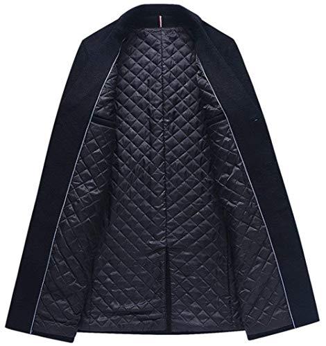 Woolen Jacket Apparel Huixin Men's Jacket Winter Long Men's NEN Fit Winter Windbreaker Coat Dunkelgrün Slim Men's Ntel xx0OqXF