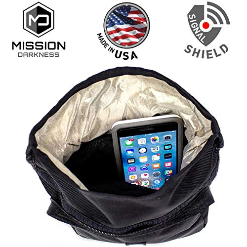 (Mission Darkness MOLLE Faraday Pouch - for Law Enforcement and Military. Attaches to Any Bag with MOLLE Webbing. Signal Blocking/Anti-Tracking/Data Privacy for Phones, Tablets, and Other Devices)