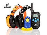Training Dog Collar - Petness Waterproof TPU Electric Remote Training Collar for 2 Dogs
