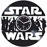 Star Wars The Force Awakens, Best Gift for Boyfriend Vinyl Record, Kovides Vinyl Wall Clock Home Decor, Office Decoration Room Inspirational Comics Marvel DC Movie, Silent, Home Art, Wall Sticker