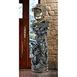 Design Toscano JQ9632 Crypt Demons Gothic Dragon Sculptural Column