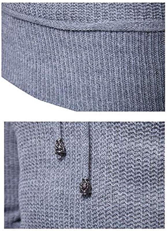 Męski Regular Fit Kołnierz szalikowy wiosna jesień sweter dziergany sweter Modernas swobodny długi rękaw sweter ze zwijanym kołnierzem: Odzież