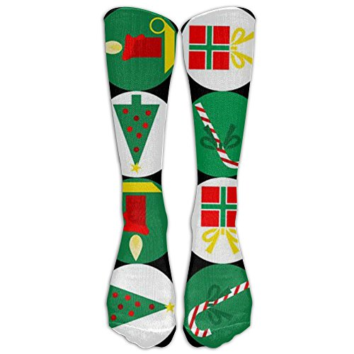 Girls Knee High Socks Fancy Chrismas Decoration Candy Canes Printed Thermal Cotton Socks Women Christmas Stockings Crew Socks Gifts For Bridesmaid Wedding Graphic Volleyball Shoes