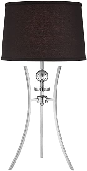 Chrome Finish 30.5 x 16 x 2 Black 30.5 x 16 x 2 Lite Source LS-21972 Table Lamp with Fabric Shades