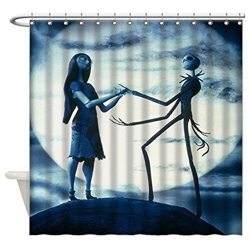 dfdkko Nightmare Before Christmas Waterproof Bathroom Fabric Shower Curtain 60X72 (2)