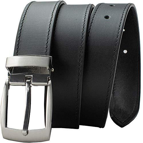 Black Balsam Knob Belt - Nickel Smart - Top Grain Leather Dress Belt with Nickel Free Buckle - 32