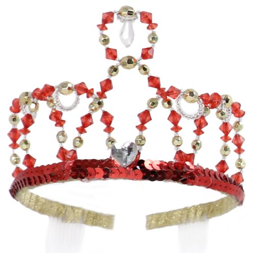 (Great Pretenders Ruby Gold Tiara Crown for Girls One-size Princess Costume by Creative Education, colors may)