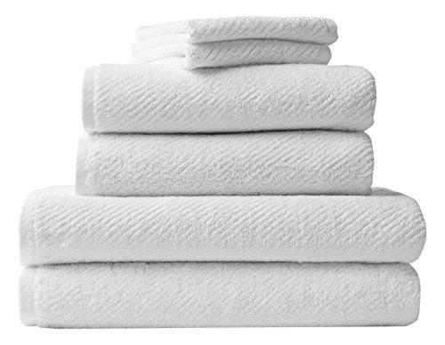 Coyuchi Air Weight Organic 6pc Towel Set, BT, HT, WC, Alpine White by Coyuchi