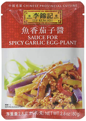 Lee Kum Kee Sauce For Spicy Garlic Eggplant, 2.8-Ounce Pouches (Pack of 12)