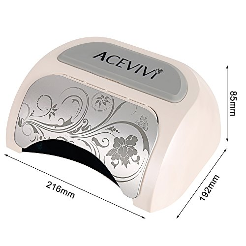 ACEVIVI 48W Automatic Induction Nail Polish Gel Art Tools Professional LED Nail Lamp Light 110-220V Nail Dryer with 5s/20s/30s Timer Setting