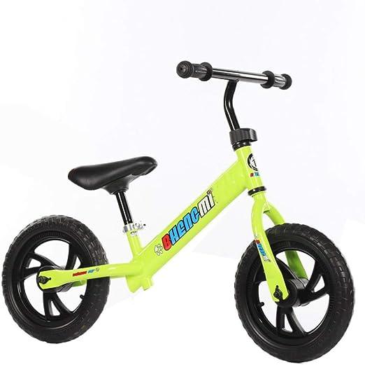 YSH 12 Pulgadas, Niños del Bebé, Sin Pedal, Balanceo, Andar En Bicicleta, Andador De Acero para El Bebé, Niños, Marco De Acero, Sin Pedal,Yellow-12: Amazon.es: Hogar