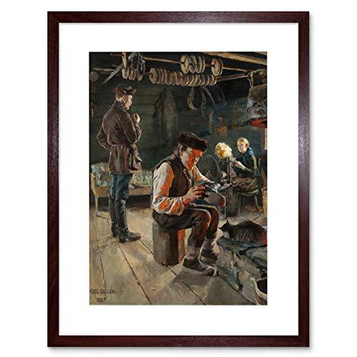 Painting Akseli Gallen Kallela Rustic Life Framed Wall Art Print ペインティング生活壁