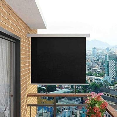 UnfadeMemory Toldo Lateral Retráctil de Pared para Jardín Balcón o Terraza,Protección de la Intimidad,Protección Solar,Color Opcional,Tamaño Opcional (150x200cm, Negro): Amazon.es: Hogar