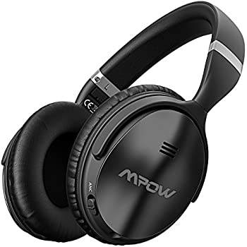 TaoTronics Active Noise Cancelling Bluetooth Headphones 30 Hour Playtime, CVC 6.0 Noise-Cancelling Mic, High Clarity Sound Dual 40 mm Drivers with Powerful Bass Over Ear Wireless Headset