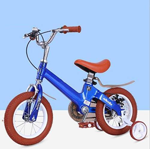 Wly&Home Niños y niñas de Las Bicicletas de 3 a 10 años, Hay Dos Sistemas de Frenos Independientes para Las Bicicletas de los niños Seguros, 12