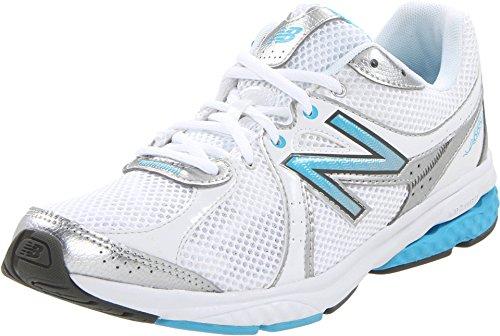 New Balance Women's WW665WB Fitness Walking Shoe,White/Blue,6.5 B US