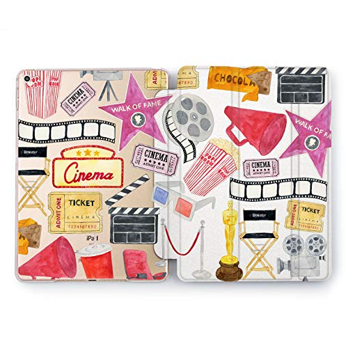 Wonder Wild Cinema Club Print Case IPad 9.7 2017 A1822 A1823 2018 A1893 A1954 Air 2 A1566 A1567 6th Gen Clear Design Smart Hard Cover Skin Texture Stars Cinema Club Movie Theater Oscar Director New -