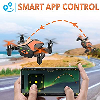 Mini Drone with Camera - Attop Drones for Kids & Beginners, RC Drone w/Camera, App/Gravity/Voice Control, AR Game/Altitude Hold/Headless Mode for Trajectory Flight, Easy to Use & Idea Gift for Kids