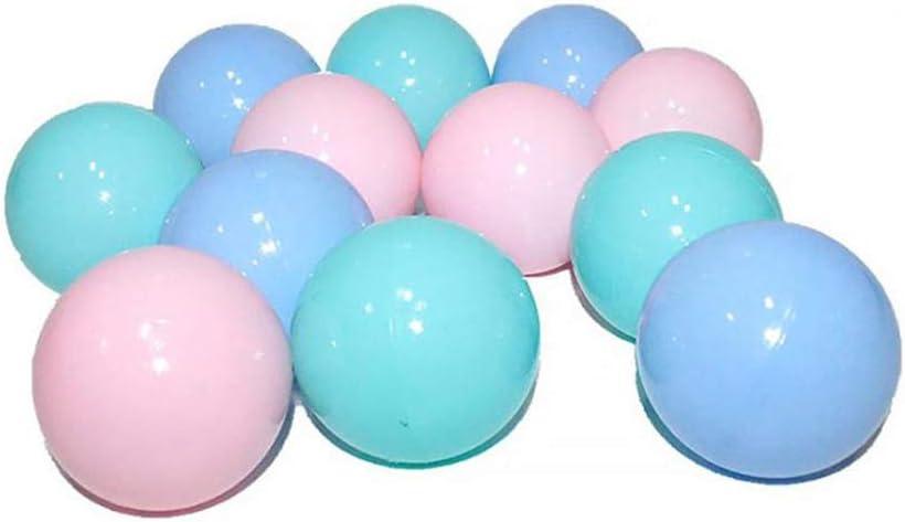 RIsxffp 25Pcs/Set Juguetes de Baño, Niños de 5,5 cm de Color Azul Suave con Forma de Bola aplastante para bebés Nadar Pozo Juguete Random Color 25Pcs*