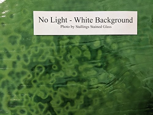 Youghiogheny Emerald Green Opal Stained Glass Sheet - 8