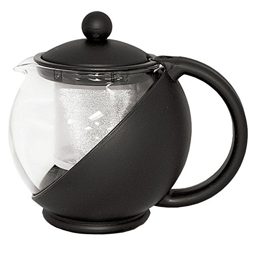 (Service Ideas TB600CC Classic Tea Press, 600 mL, Black)