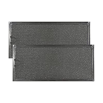 2 PACK MMV4205BAS Maytag Microwave Oven Aluminum Grease Filter Replacements by Air Filter Factory