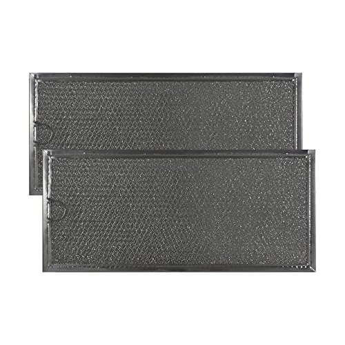 Air Filter Factory 2-PACK Compatible Replacement For Maytag MMV4205BAS Microwave Oven Aluminum Grease Filter by Air Filter Factory