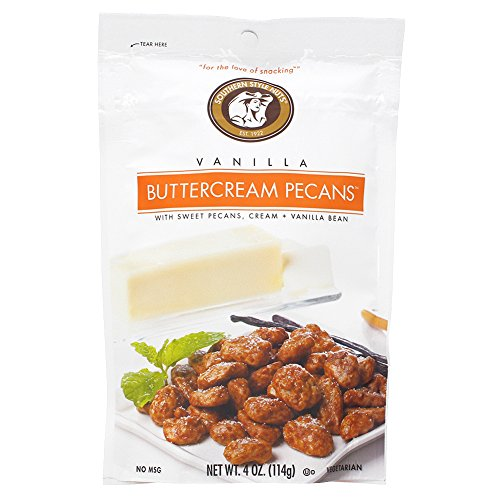 Pecan Vanilla Butter (Southern Style Nuts Vanilla Buttercream Pecans 4 oz - Pack of 6)