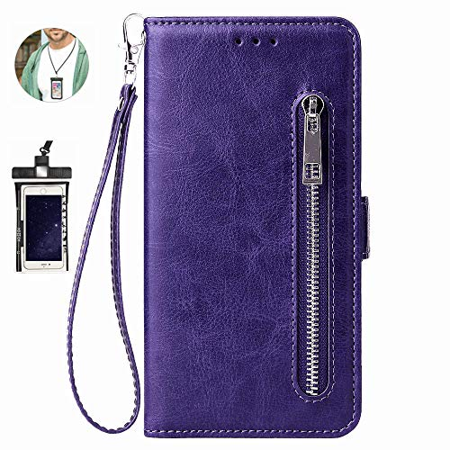 Case for iPhone 6 Luxury Leather Wallet with Viewing Stand and Card Slots Bussiness Phone Case [with Free Waterproof Case]