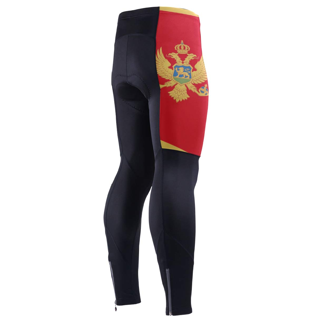 CHINEIN Men's Cycling Jersey Long Sleeve with 3 Rear Pockets Pants Montenegro Flag by CHINEIN