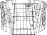 Petmate Exercise Pen W/Door Snap-Hook Design Included Ground Stakes 5 Different Heights