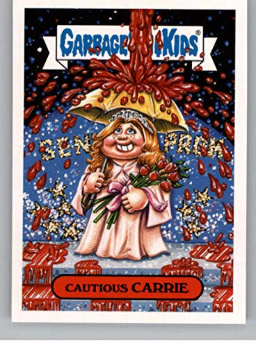 2018 Topps Garbage Pail Kids Oh The Horror-ible Retro Horror Sticker A NonSport #5A CAUTIOUS CARRIE ()