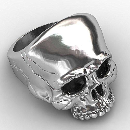 Skull Jewelry for Men EVBEA Big Biker Rock Mens Motorcycle Ring