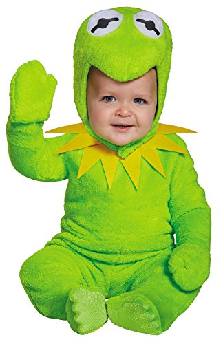UHC Boy's Kermit the Frog Theme Outfit Infant Toddler Halloween Costume, Toddler M (The Muppets Kermit Toddler Costumes)