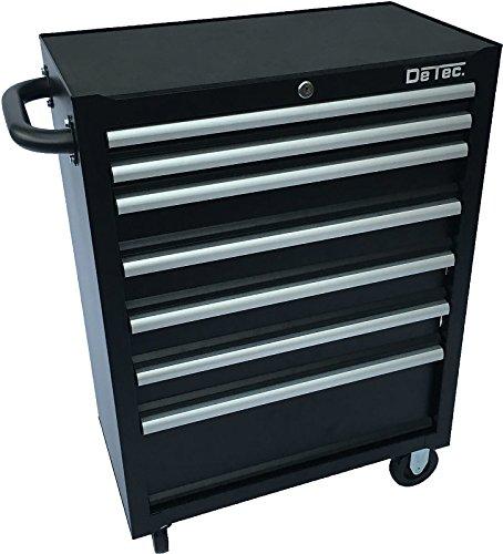 DeTec. Werkstattwagen - 7 Schubladen in schwarz - ohne Werkzeug