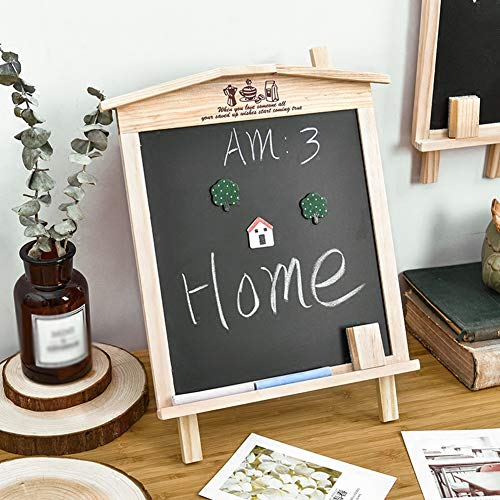 LIANGJUN Message Board Chalkboards Signs Solid Wood Hanging Bracket Coffee Shop Bar Sketchpad (Color : A, Size : 27x35cm) by LIANGJUN-lyj (Image #1)