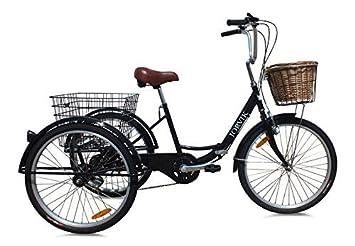 Jorvik 20″ Vintage Dutch Estilo Plegable Marco Adulto O para niños Triciclo - Negro Dutch