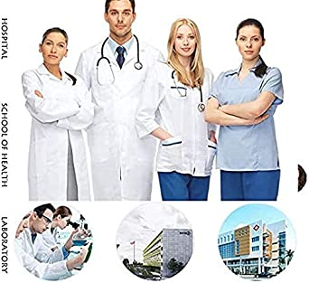 24HOCL Doctor Surgical Scrub Hat Nurse Scrub Cap One Size Multiple Solid Colors for Women Men