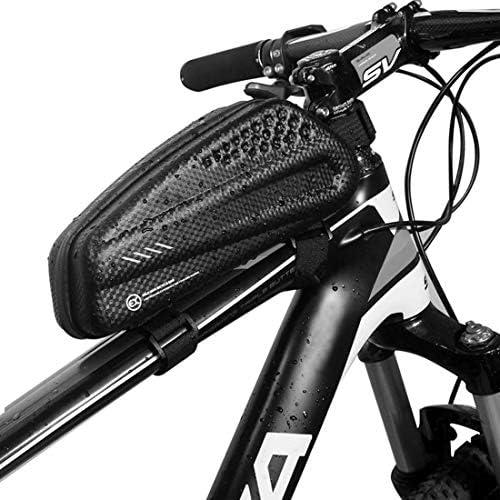 サドルハードシェル自転車バッグマウンテンバイクチューブフロントバッグ防雨MTBロードバイクサドルバッグパニア自転車アクセサリー,黒,1L